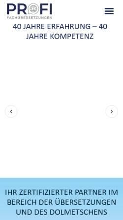 Vorschau der mobilen Webseite www.profischnell.com, Profi Schnelldienst Fachübersetzungen