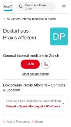 Vorschau der mobilen Webseite www.apraxis.ch, Apraxis GmbH
