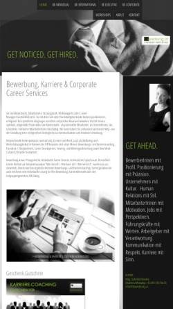 Vorschau der mobilen Webseite www.bewerbung.at, Bewerbung.at Career Services - Mag. Gabriela Novotny