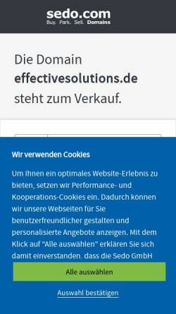 Vorschau der mobilen Webseite www.effectivesolutions.de, Effective Solutions Coaching