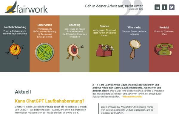 Vorschau von www.fairwork.ch, FairWork GmbH