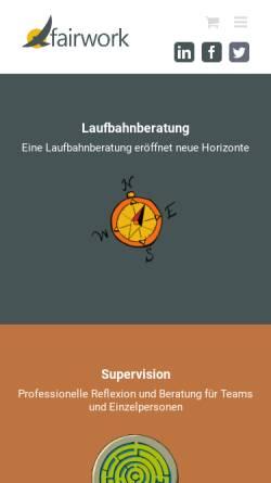 Vorschau der mobilen Webseite www.fairwork.ch, FairWork GmbH