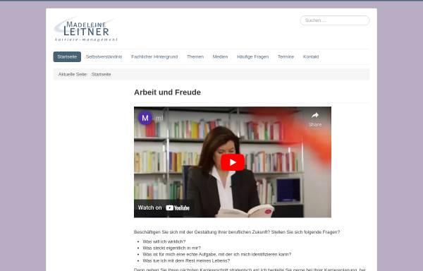 Vorschau von www.madeleine-leitner.de, Karriere-Management - Madeleine Leitner