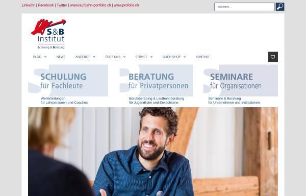Vorschau von www.s-b-institut.ch, S&B Institut für Berufs- und Lebensgestaltung