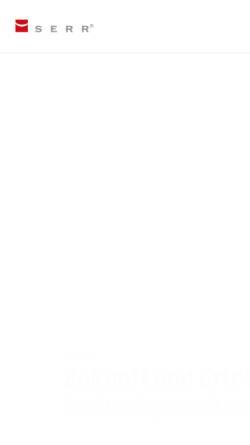 Vorschau der mobilen Webseite serr-gmbh.de, Serr GmbH