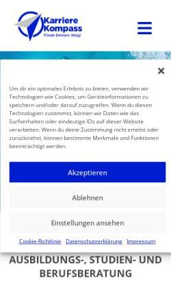 Vorschau der mobilen Webseite www.karriere-kompass.net, Ulrike Luz
