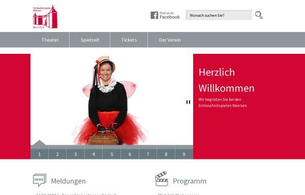 Vorschau von www.festspiele-neersen.de, Festspiele Schloss Neersen
