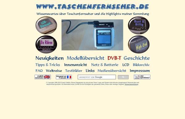 Vorschau von www.guenthoer.de, Frank's Taschenfernseher