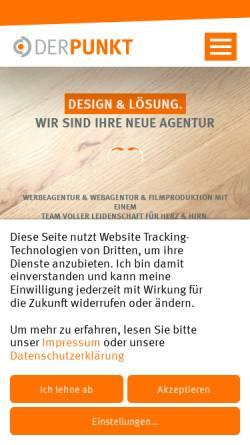 Vorschau der mobilen Webseite www.derpunkt.de, DER PUNKT GmbH − Agentur für Design & Lösung