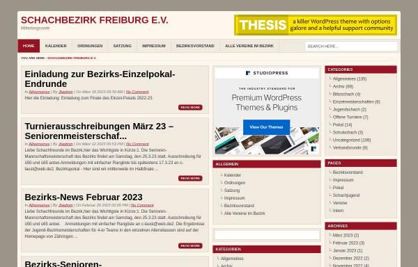 Vorschau von schachbezirk-freiburg.de, Schachregion Freiburg/Hochrhein