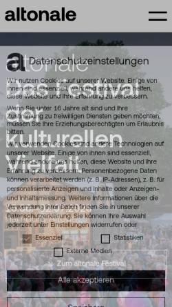 Vorschau der mobilen Webseite www.altonale.de, Altonale
