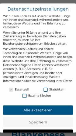 Vorschau der mobilen Webseite www.blankenese.de, Blankenese