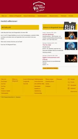 Vorschau der mobilen Webseite www.buergertreff-altonanord.de, Bürgertreff Altona-Nord
