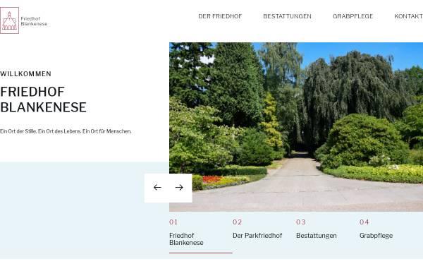 Vorschau von www.friedhof-blankenese.de, Friedhof Blankenese