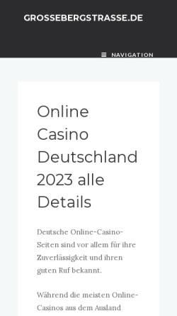 Vorschau der mobilen Webseite www.grossebergstrasse.de, Die Große Bergstraße
