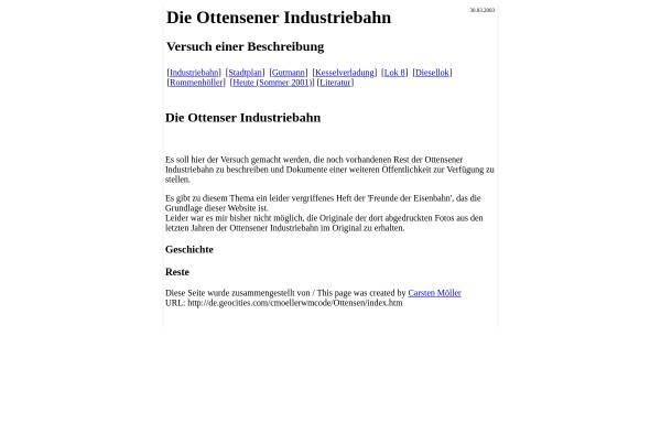 Vorschau von www.industriebahn-ottensen.de, Industriebahn Ottensen