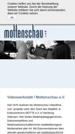 Vorschau der mobilen Webseite www.mottenschau.de, Mottenschau