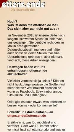 Vorschau der mobilen Webseite www.ottensen.de, Ottensen