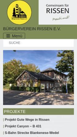 Vorschau der mobilen Webseite www.rissen.de, Rissen