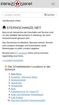 Vorschau der mobilen Webseite www.sternschanze.net, Sternschanze.net