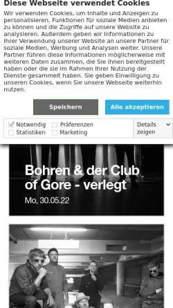 Vorschau der mobilen Webseite www.jazzhaus.de, Jazzhaus Freiburg
