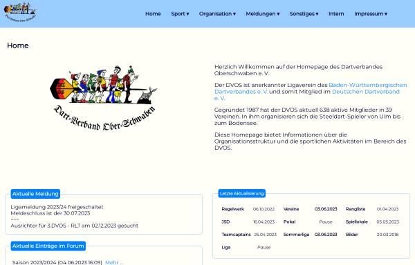 Vorschau von www.dvos.de, Dartverband Oberschwaben