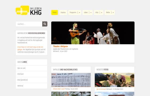 Vorschau von www.khg-augsburg.de, Katholische Hochschulgemeinde Augsburg