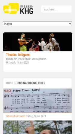 Vorschau der mobilen Webseite www.khg-augsburg.de, Katholische Hochschulgemeinde Augsburg