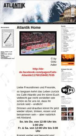 Vorschau der mobilen Webseite www.cafe-atlantik.de, Café Atlantik