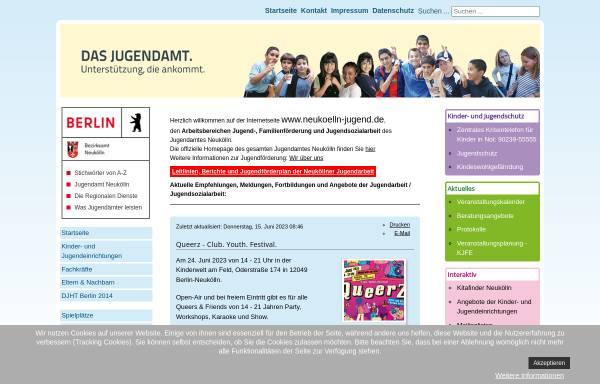 Vorschau von www.neukoelln-jugend.de, Multimediaprojekt Neukölln für Kinder und Jugendliche