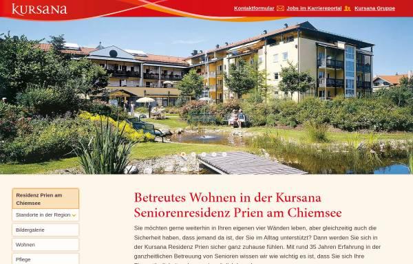 Vorschau von www.kursana.de, Chiemsee-Residenz