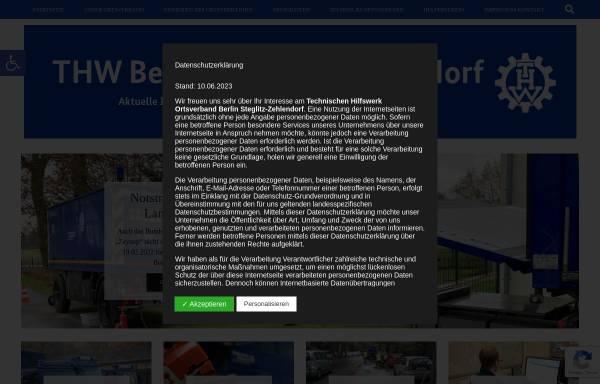 Vorschau von www.thw-steglitz.de, Technischen Hilfswerk