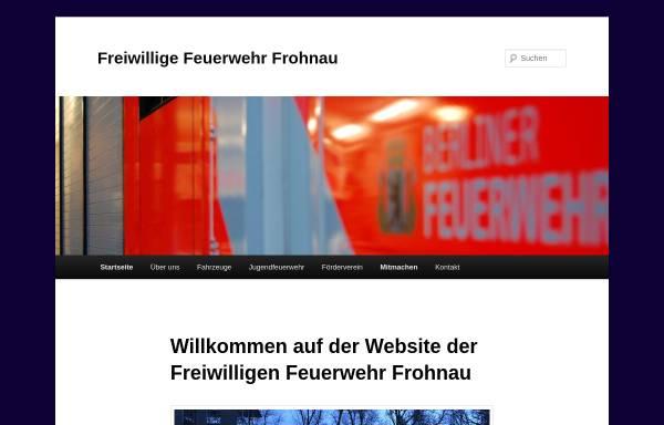 Vorschau von www.ff-frohnau.de, Freiwillige Feuerwehr Frohnau