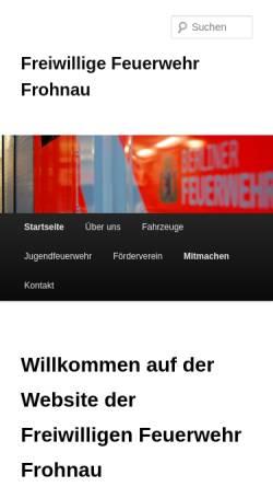 Vorschau der mobilen Webseite www.ff-frohnau.de, Freiwillige Feuerwehr Frohnau