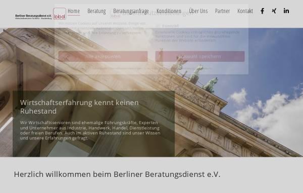 Vorschau von www.bbdev.de, Berliner Beratungsdienst e.V.