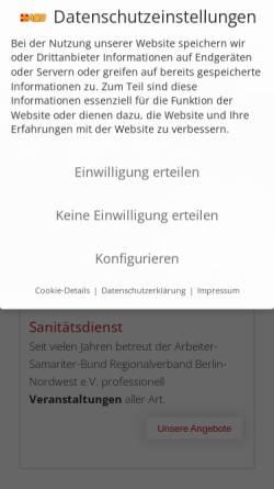 Vorschau der mobilen Webseite www.asb-wedding.de, Arbeiter-Samariter-Bund Ortsverband Berlin-Wedding