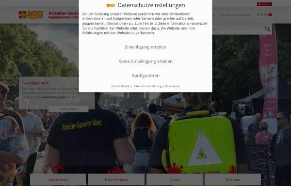 Vorschau von www.asb-berlin-nordwest.de, ASB Regionalverband Berlin-Nordwest e.V.