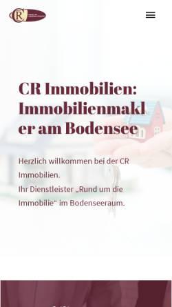 Vorschau der mobilen Webseite www.cr-bodenseeimmobilien.de, CR Immobilien GbR