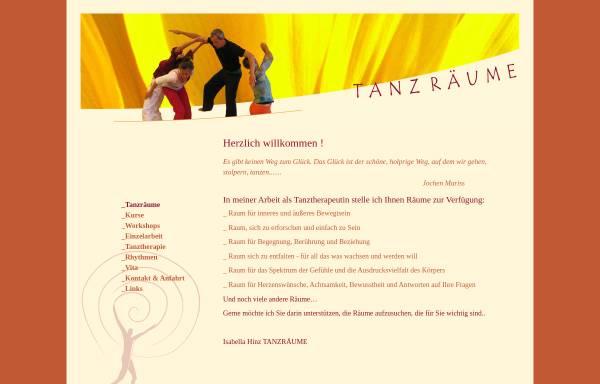 Vorschau von www.tanz-raeume.de, Tanztherapie Tanz-Räume Isabella Hinz