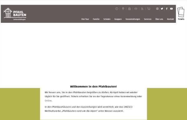 Vorschau von www.pfahlbauten.de, Verein für Pfahlbau- und Heimatkunde e.V.