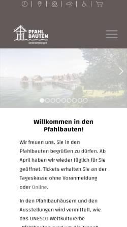 Vorschau der mobilen Webseite www.pfahlbauten.de, Verein für Pfahlbau- und Heimatkunde e.V.
