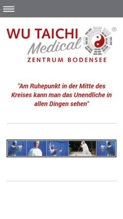 Vorschau der mobilen Webseite www.wu-tai-chi-bodensee.de, Wu-Tai-Chi-Zentrum Bodensee
