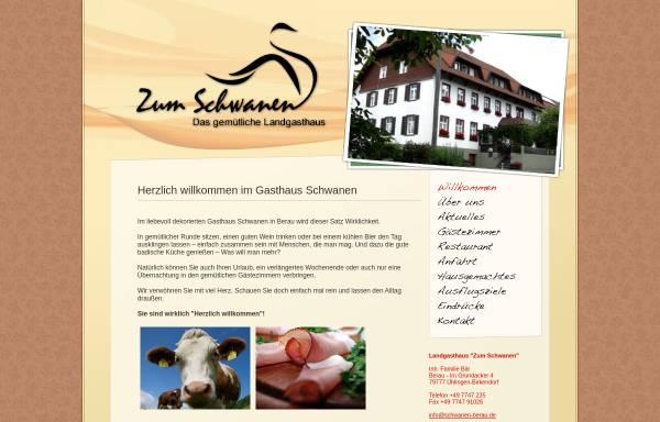 Vorschau von www.schwanen-berau.de, Gasthaus