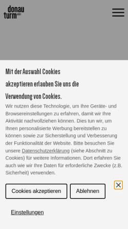 Vorschau der mobilen Webseite www.donauturm.at, Donauturm