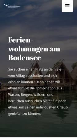 Vorschau der mobilen Webseite www.ferienwohnung-in-unteruhldingen.de, Ferienwohnungen Domizil