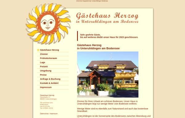 Vorschau von www.gaestehaus-herzog-unteruhldingen.de, Gästehaus Herzog Unteruhldingen