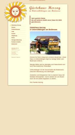 Vorschau der mobilen Webseite www.gaestehaus-herzog-unteruhldingen.de, Gästehaus Herzog Unteruhldingen