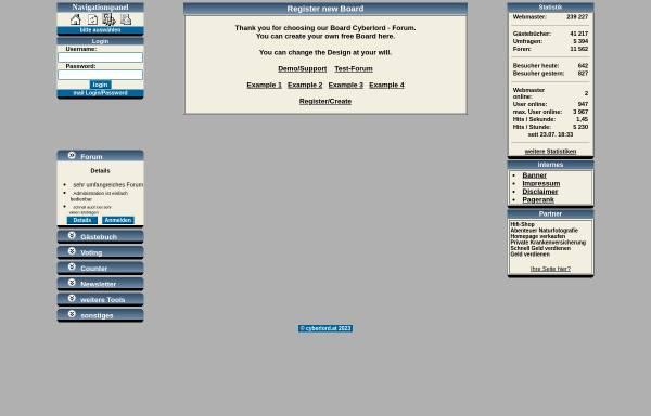 Vorschau von www.cyberlord.at, ASP-FastBoard
