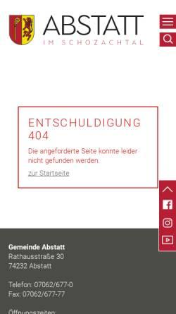 Vorschau der mobilen Webseite www.abstatt.de, Heimatmuseum Abstatt