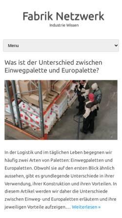 Vorschau der mobilen Webseite www.fabrik-net.de, Fabrik Bruchsal
